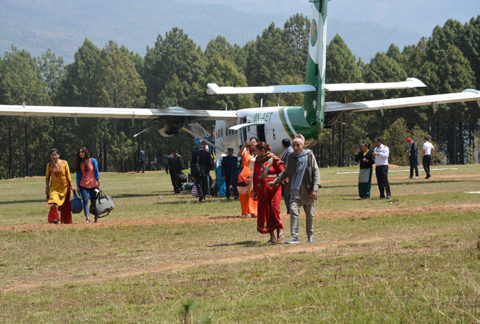 बागलुङको बलेवा विमानस्थल सञ्चालनमा